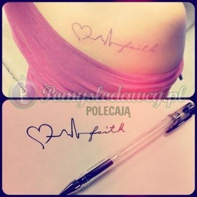 Piękny I Prosty Tatuaż Z Przesłaniem Love Life Faith