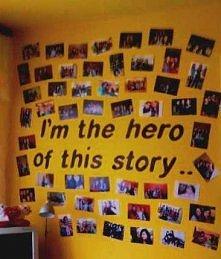 ściana ze zdjęciami :)