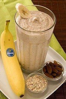 Bananowy shake na śniadanie...
