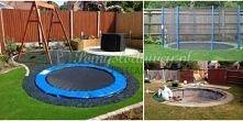 super pomysł na ogrodową trampolinę