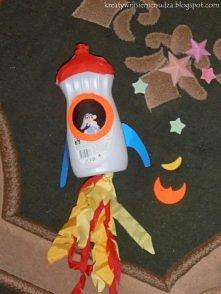 rakieta z butelki po płynie do naczyń kreatywnisienienudza.blogspot.com
