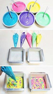 Fajny sposób na na kolorowe ciasto