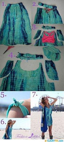 wystarczy tylko długa spódnica i powstaje piękna sukienka ;)