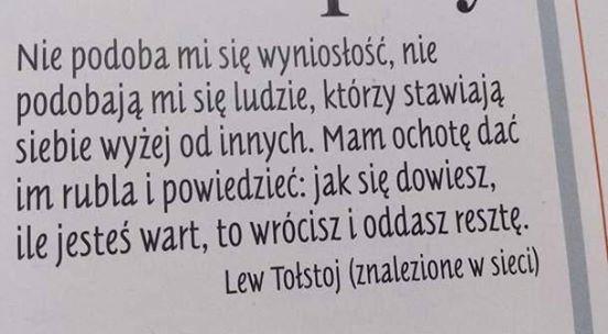 tołstoj cytaty Lew Tołstoj. na Wiersze, cytaty, życie   Zszywka.pl tołstoj cytaty