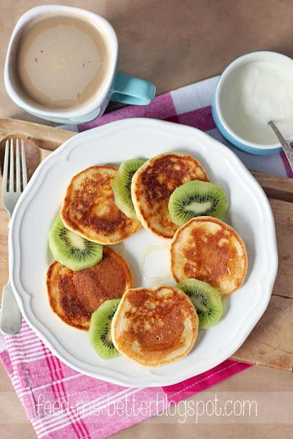 Placuszki śniadaniowe z kaszy manny. Bez mąki.