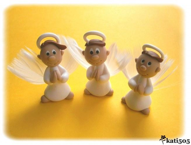 Aniołek w pudełku - podziękowania dla gości na Komunię Św. :)