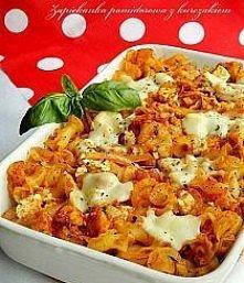 Zapiekanka pomidorowa z kurczakiem i fetą  Składniki na 3-4 porcje:  ok. 250 ...