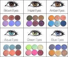 Cienie dopasowane do koloru twoich oczu :3
