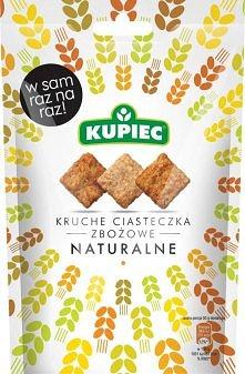 Kruche ciasteczka zbożowe firmy KUPIEC - naturalne. PYCHA!!!