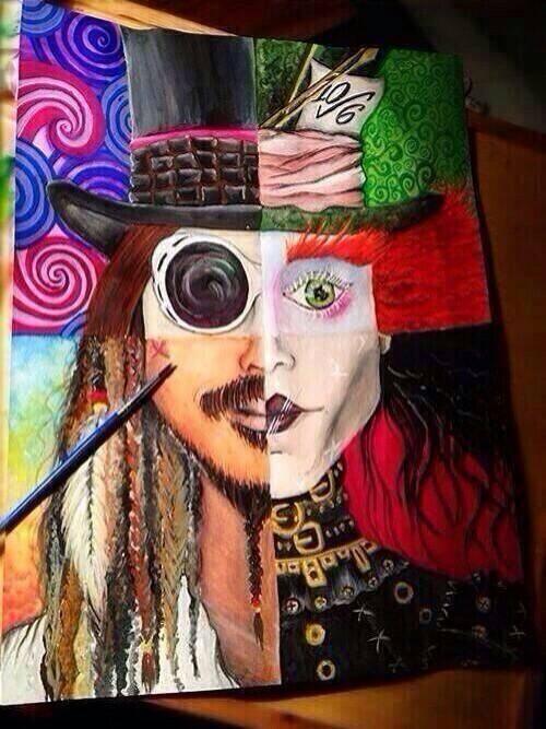 Johnny Depp Na Sztuka Rysunki Zszywkapl