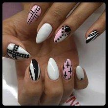 dla tych, którym się podoba taki manicure :)