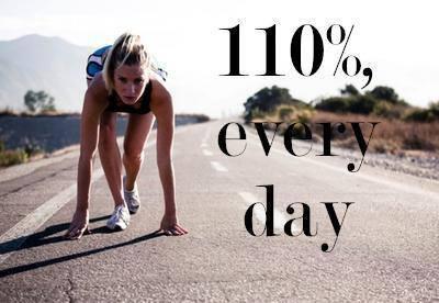 Ćwicz przynajmniej 30 min dziennie i zawsze dawaj z siebie 110 %.