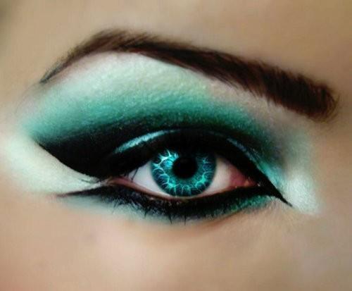 śliczny makijaż :)