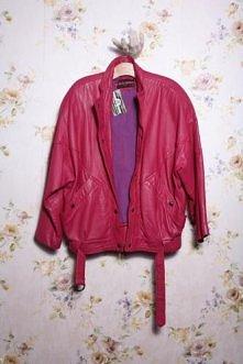 Vintage - Piekna kurtka ze skóry naturalnej fuksja