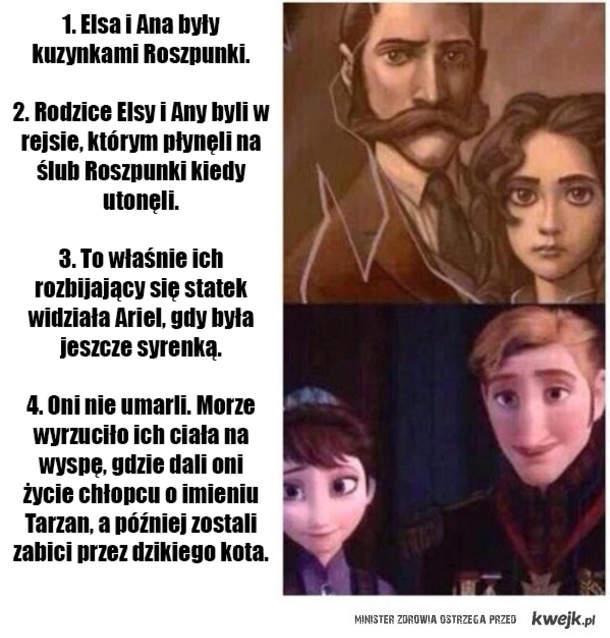 Teoria Disneya Tycząca Rodziców Elsy I Anny Na Kraina Lodu