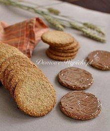 dietetyczne ciasteczka  100g mąki pszennej pełnoziarnistej, 100g płatków owsianych, 50g cukru, 1 łyżeczka proszku do pieczenia szczypta soli, 100g masła lub margaryny, 1- 2 łyżk...