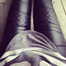 black black leather
