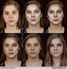makijaż - cieniowanie twarzy