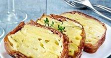 Pomysłowe ciasto ziemniaczane  Prosta i efektowna zapiekanka z ziemniaków.  Składniki: 1,2 kg ziemniaków Sól, pieprz Gałka muszkatołowa 150 g sera Comté (można zastąpić innym se...