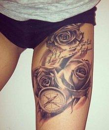 róża tatuaż