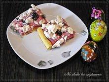 Mazurek wiśniowy z kremowym mascarpone, frużeliną wiśniową i bezami Przepis pod zdjęciem :-)
