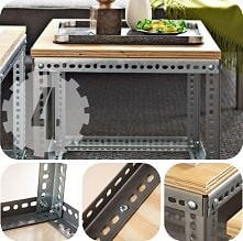 DIY stolik kawowy z kątowniczków