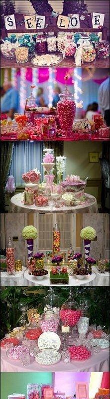 Candy bufet, pomysł na wesele
