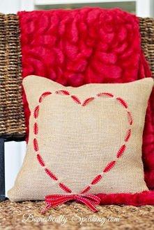 poduszka z sercem do uszycia bez maszyny :)