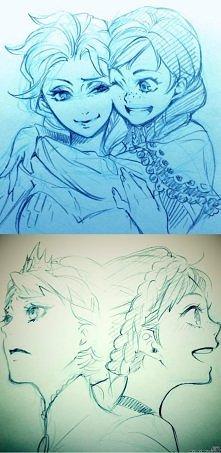 Fanarty Elsy i Anny wykonane przez Yanę Toboso, japońską mangakę najbardziej ...