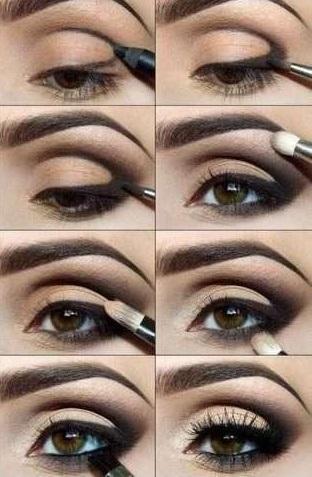 ciemny makijaż ;)
