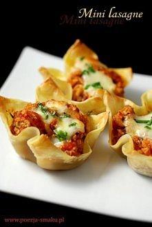 Muffiny mini lasagne  Kliknij w zdjęcie, żeby zobaczyć przepis! :)