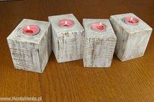 Świecznik White Dream Medium Ten drewniany świecznik to połączenie pasji z marzeniami. Wykonany z kawałka starej palety.i.  Drewno opalane i przecierane na biało, tak aby uzyska...