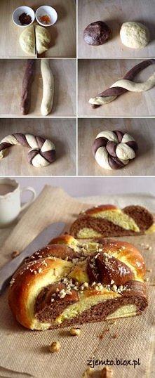 """Babka """"Twist"""" delikatna babka drożdżowa, o smaku czekoladowo-pomarańczowym. Smakuje wyśmienicie, a dzięki fantazyjnym wzorom prezentuje się bardzo ciekawie.  Kliknij w..."""