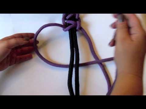 Makrama krok po kroku - splot podstawowy (1:47 min)