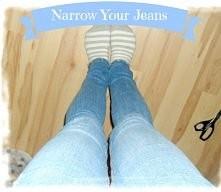 Jak zwęzić spodnie jeansowe