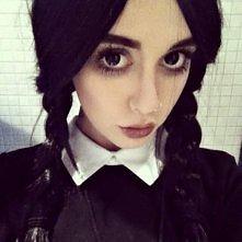 Wednesday Addams makeup. Hannah Snowdon