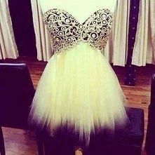 Cieniowana mini sukienka <3