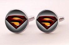 Ślubne spinki do mankietów Superman.  Bogaty wybór ślubnych spinek do mankietów w butiku online Madame Allure!