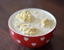 Dietetyczne kluski jabłkowe na mleku - idealne śniadanie :)