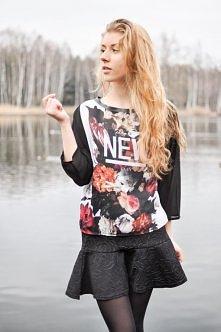 bluza w kwiaty...