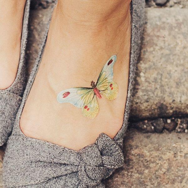 Mały Tatuaż Motyl Na Wzory Tatuaży Zszywkapl