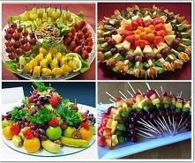dekoracja owocow na stół