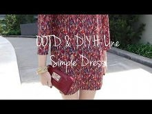 OOTD & DIY H-Line Simple Dress