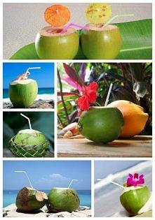 Naturalna woda kokosowa jest bogata w potas, magnez, wapń, fosfor, żelazo ora...