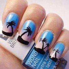 Świt z palmami :)