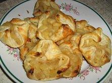ciasteczka z ciasta francuskiego z jabłkami i bananem 15 sztuk