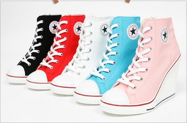 Converse na koturnie w przeróżnych kolorach :) na Buty