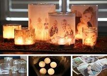 świeczniki ze zdjęciem