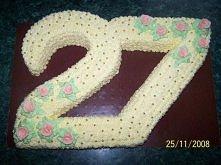 Tort na 27. rocznicę ślubu moich rodziców :-)