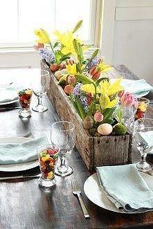 *** dekoracja stołu na Wielkanoc ***